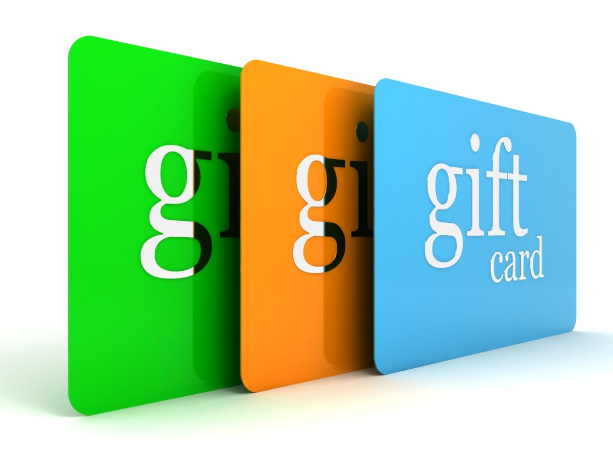 4.  Gift Cards