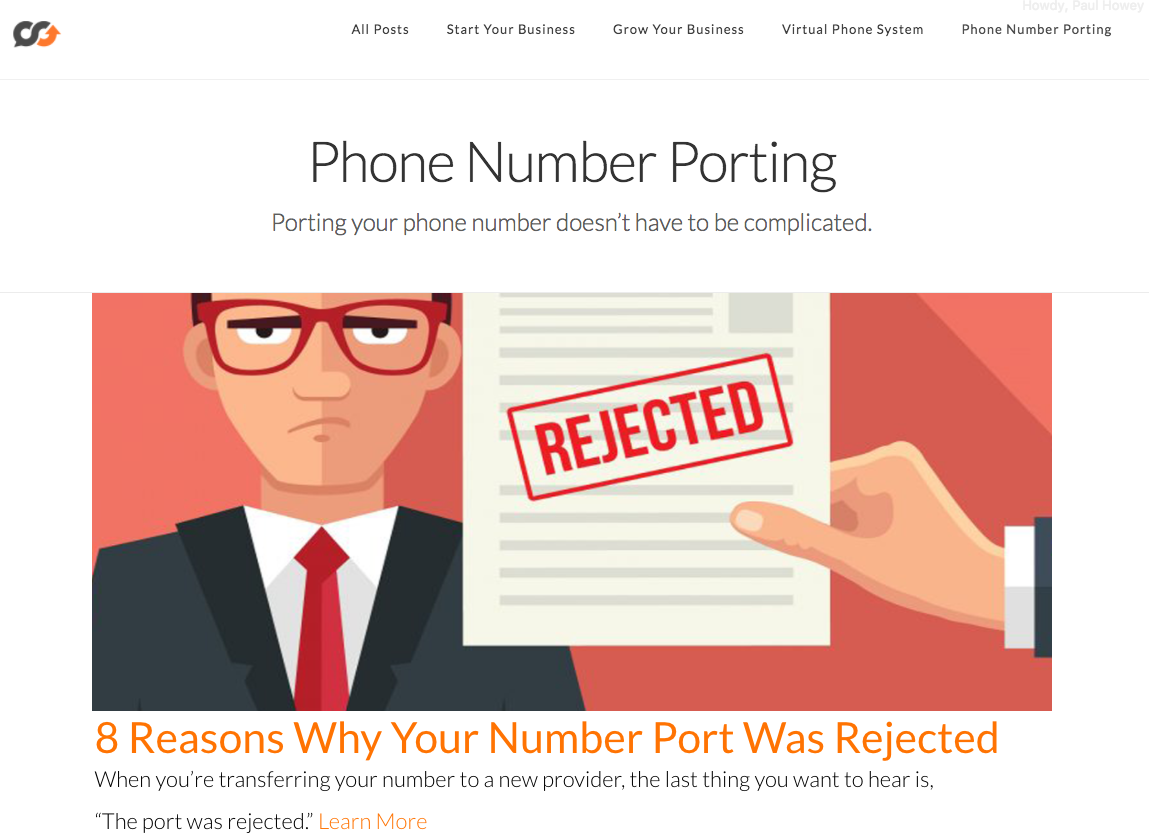 phone number porting