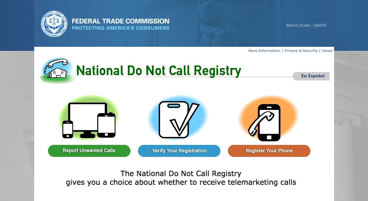 National Do Not Call Registry